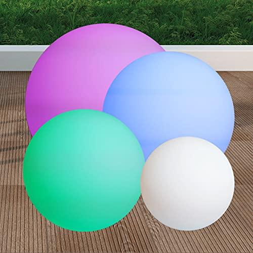 Bola con luz Led 16 Colores 2 Sistemas: Solar y batería eléctrica Recargable (40_cm)