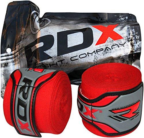 RDX Fasce Boxe Guanti Interni, 4,5 Metri 180 Pollici Elastiche Bendaggi, Polso Mani Protezione Sottoguanti, Pugilato Bende per Arti Marziali Muay Thai MMA Kickboxing Punzonatura Allenamento Hand Wraps