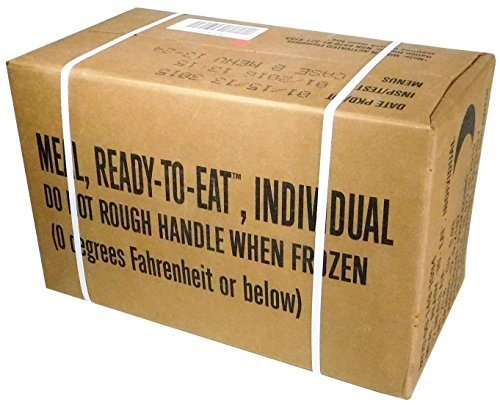 MREs (Meals Ready-to-Eat) Box B, Genuine U.S. Military Surplus, Menus 13-24 by U.S. Military Contractors