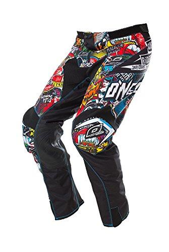 O\'NEAL | Motocross-Hose | Enduro Motorrad | strapazierfähige Denierstoffe, mit großer Bewegungsfreiheit, Athletische Passform | Pants Mayhem Crank | Erwachsene | Schwarz Multi | Größe 30