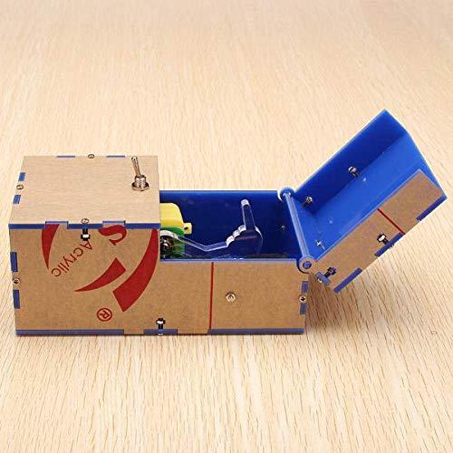 LYPYY Unnütze Box DIY Kit Unnütze Maschine Geburtstagsgeschenk Spielzeug Geek Gadget Gags Witz Breites Spiel Heikles Spielzeug Fun Office Home Schreibtisch Dekor, Blau