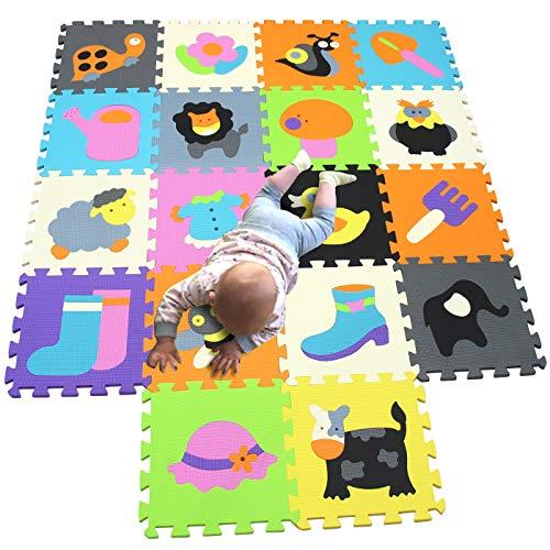 MQIAOHAM puzzle alfombrillas skip hop juego parques infantiles bebes acolchado manta tapete zona alfombras acolchadas grande goma eva P011026G321218