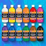Sargent Art 26-8512 12ct. 16oz. Pre-Mixed Pouring Acrylics Paint, Multicolor