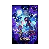 SDFAW Póster de película con texto en inglés 'She Ra y las princesas del poder', 30 x 45 cm, estilo unframe-1