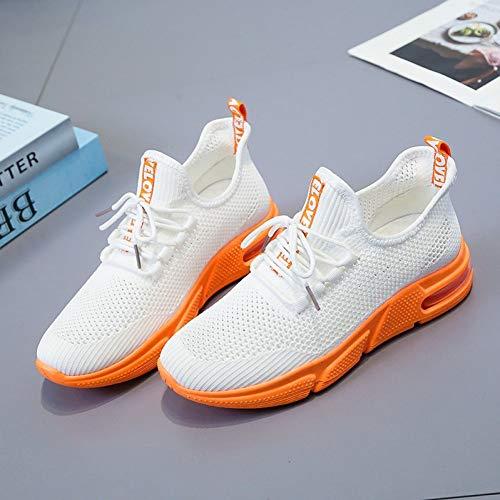 XJWDNX - Zapatillas de running de malla hueca para verano, informales al aire libre, deportivas, de ocio, tejido atlético, transpirable con cordones