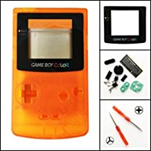 Gametown New Full Housing Shell Case Cover Pack with Screwdriver for Nintendo Game boy Color GBC Repair Part-Clear Orange