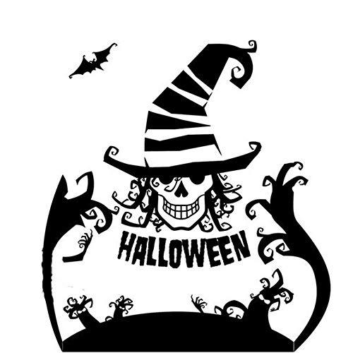 YANSJD Etiqueta engomada de la Pared de Halloween Halloween Scary Clown Witch Hat Decal Sticker Art Graphic Sticker Halloween