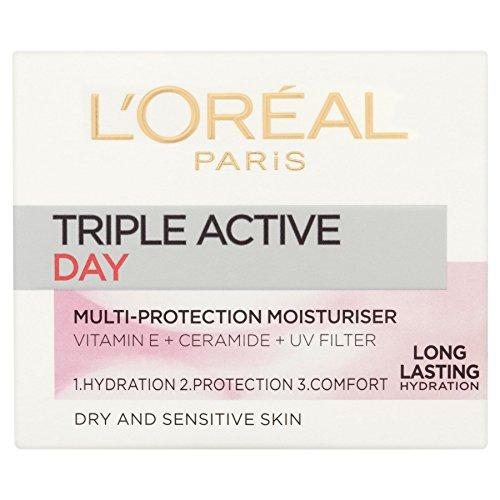 L'Oréal Paris Triple Active Day Multi Protection Lot de 6 flacons de 50 ml