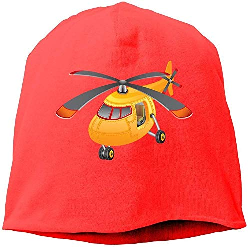 Helikopter-Hut aus Wolle, Unisex, Rot