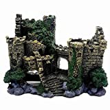 JVSISM Adorno de Acuario Escondite del Castillo Decoraciones de Acuario Decoraciones de Peceras Grandes ArtesaníAs de Resina