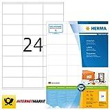 HERMA 4453 Adressaufkleber DIN A4 (70 x 36 mm, 100 Blatt, Papier, matt) selbstklebend, bedruckbar,...