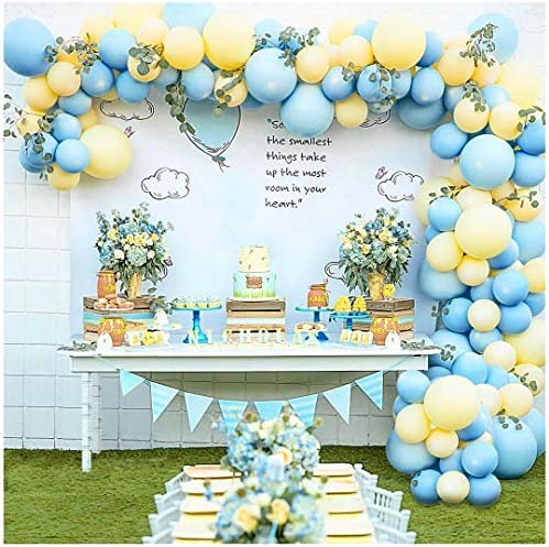 Pastel Balloon Garland Arch Kit with 100 pcs Blue and Yellow Balloons DIY Balloon Bouquet Kit product image