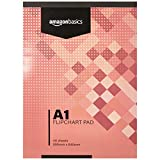 Amazon Basics - Bloc de papel para rotafolio, 40 hojas, tamaño A1, 59,5 x 84 cm, 1 unidad