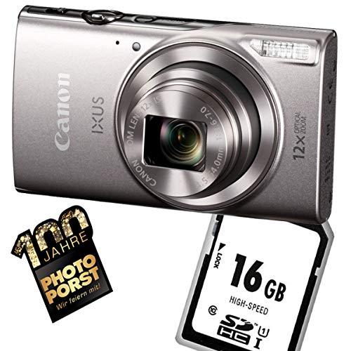 1A Photo PORST Starter Angebot Canon Ixus 285 HS Argent + SD 16 Go mémoire flash