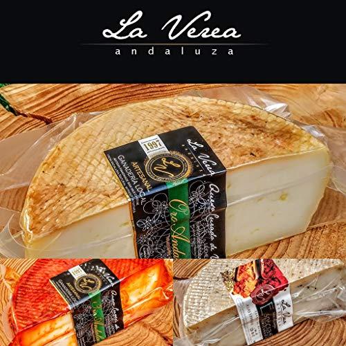 Degustación Quesos La Verea Andaluza. LOTE 6 (Queso 500g en ACEITE+ 500g PIMENTON + 500g Semi Cremoso) Packs combinados de quesos artesanos. 100% Natural