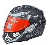 LS2 The Riders Den - LS2 Helmets - FF352 Rookie - Fly Demon - Matt Black Grey - Single Mercury Visor...