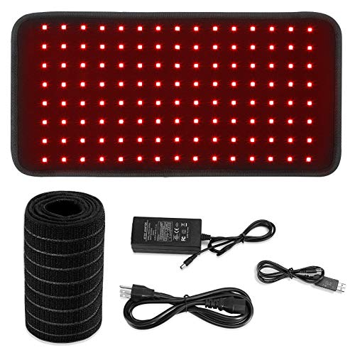 Red Light Therapy Wearable Wrap for Pain Relief 60W Portable 660nm and 850nm Red Light Therapy Device auto wrap Infrared Therapy pad Waist Pain Remove