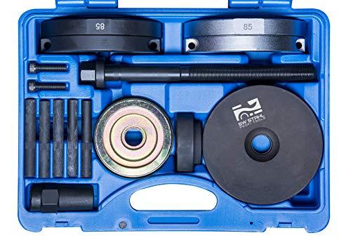 SW-Stahl 301051L Kompaktlager Werkzeugsatz/Radlager-Werkzeug-Set/für VW Transporter/EIN-und Ausbau von Lager-/ Nabeneinheit mit Ø 85 mm/für Vorder-und Hinterachse/Presswerkzeug
