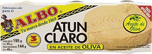 Albo Atún Claro en Aceite de Oliva, 3 x 70g