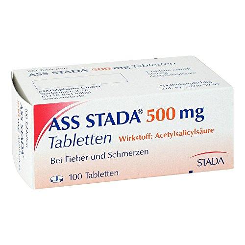 ASS STADA 500 mg Tabletten 100 St Tabletten 100 St Tabletten