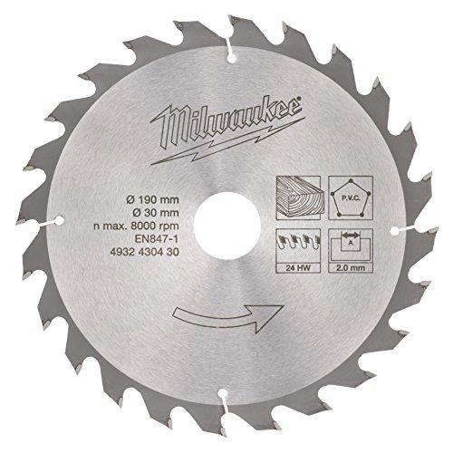 Milwaukee 4932430430 Kreissägeblatt 190/30mm, 24 Zähne