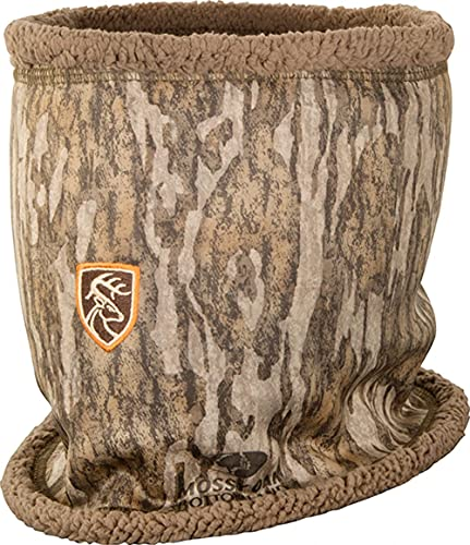 Drake Waterfowl Non-Typical Silencer Sherpa Fleece Neck Gaiter with Agion Active XL Mossy Oak Bottomland One Size Fits Most