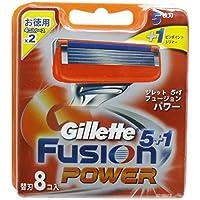 ジレット フュージョン5+1パワー替刃 8B × 5個セット