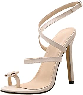 MmNote Women Shoes, Womens Bow High Heel Advanced Customization Flip-Flops Retro Sandals Shoes