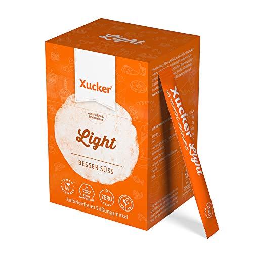 250 g Xucker Light Sticks in Schachtel (50 × 5g) | Erythrit von Xucker: kalorienfrei | 50 Xucker-Sticks | je 5 g | 70 % der Süßkraft von Zucker