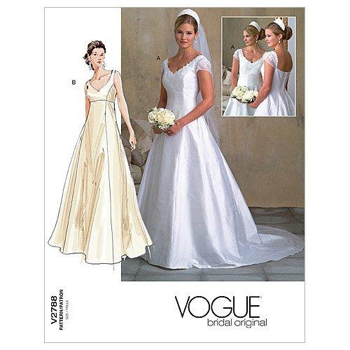 Vogue 2788 - Patrón de Costura para Vestido de Novia