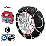 KAWIN Shopping on line Catene da Neve OMOLOGATE 205 75 16 V5117 16mm 205/75-16 R16 SUV 4x4