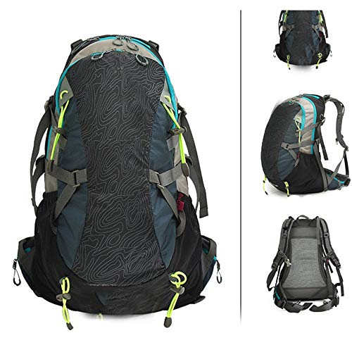 WHSS Outdoor Backpack Outdoor Riding Backpack Mountain Bike Backpack Men And Women Travel Camping Equipment Hiking Large Capacity (Color : Black)