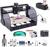 【 2 en 1】3018 Pro-M CNC Fresadora con Módulo De 7 w, TwoWin 3 ejes DIY...