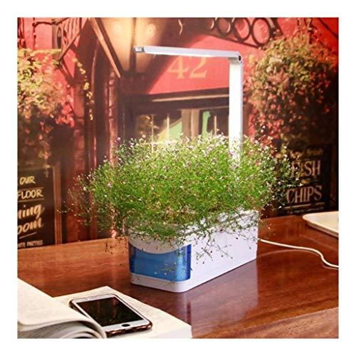 Luces de jardín hidropónicas inteligentes Kit de jardín interior con función de lámpara de escritorio Luz de cultivo de plantas LED Mini cultivo hidropónico interior