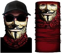 USChoice Outdoor Face Mask Face Shield for Men, Dust Face Mask Face Shield Sun Mask Neck Gaiter 3D Stretchable Magic Scarf Seamless Bandana Balaclava Headband for Women Cycling Fishing Hiking