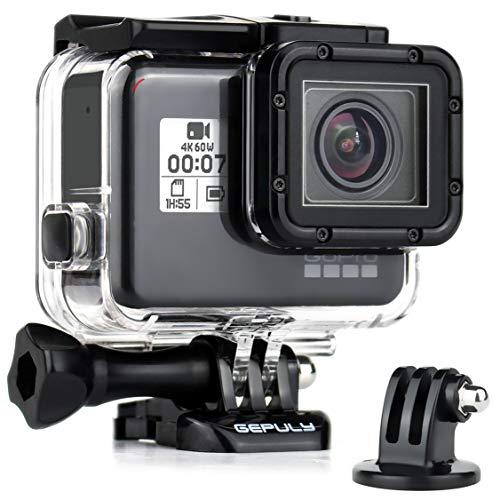 GEPULY Waterproof Housing Case for GoPro Hero 7 Black, Hero 5 6 Black, Hero (2018) - 45M Underwater Protective Dive Housing Shell for GoPro Hero7 Hero6 Hero5 Camera with Bracket Accessories
