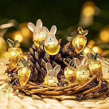 CORKAS 10-Feet 40-LED Rabbit Bunny Carrot String Lights