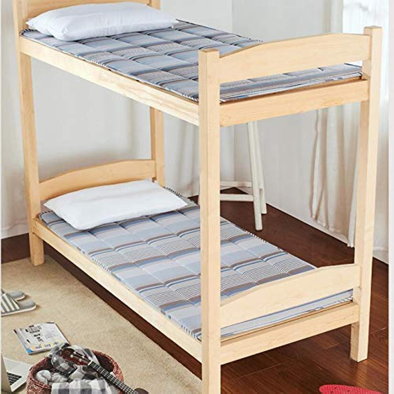 Student Mattress,Cotton Folding Bed Mattress 0.9m Dormitory Single Tatami Sponge Mattress Breathable Fade Mattress-A 90x190cm(35x75inch)
