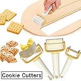 3 PC/Satz Rollen Ausstechformen Scheiben Keks Ausstecher Teig Rollschneider für Plätzchen Dumpling Multifunktionale Küchenwerkzeug-Zubehör