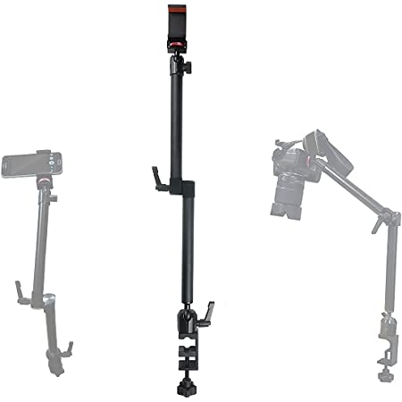 Arkscan MCM5 Tabletop Photography Videography Live Stream Zoom Meeting Classroom Table clamp Mount with ¼-20 mounting Bolt for iPhone Android Smartphone, and Nikon Sony Canon Camera & Camcorder
