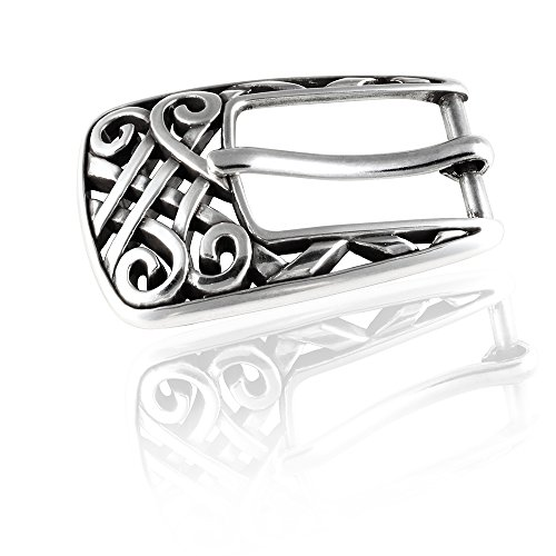 Gürtelschnalle Buckle 20mm Metall Silber Geschwärzt - Buckle Spain - Dornschliesse Für Gürtel Mit 2cm Breite - Silberfarben Geschwärzt