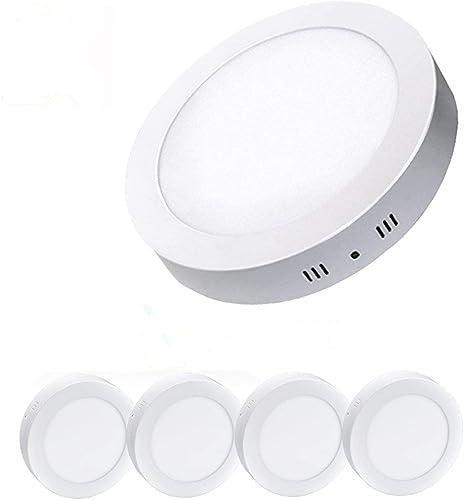 5 x 18W Ronde LED Plafonnier Surface Monté Plafonniers pour Salles de Bains Bureau Tension 220V Blanc Froid