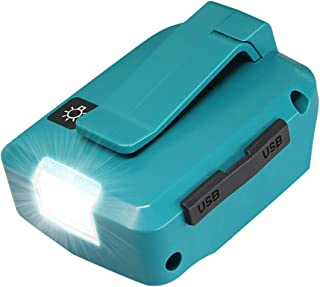アダプタ マキタ互換adp05 usbアダプタマキタ 14.4V 18Vバッテリー最新版用 LEDライト付き USBアダプタ 夜間仕事 災害 停電 応急照明(SHINGA)