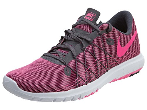 Nike Womens Flex Fury 2 Dark Grey/Pink Blast/White Running Shoe 8.5 Women US