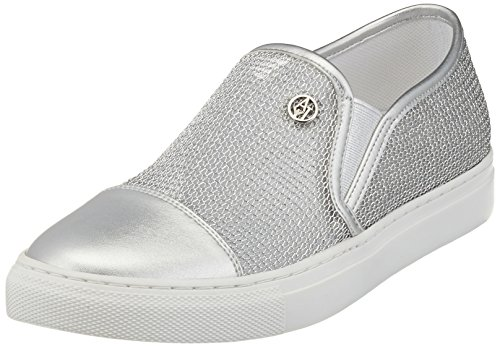 Armani Jeans Damen 9251957P583 Sneakers, Silber (Argento), 39 EU
