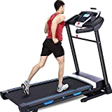 ANCHEER Treadmill with Automatic Incline, 3.25HP, 300lbs Weight Capacity, 47' x 17' Wide Running Area, Large Electric Folding Treadmill Machine for Home with LCD Screen, App Control