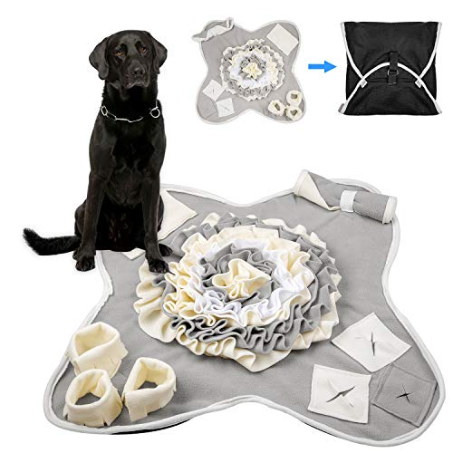 VIVVA Snuffle Mat for Large Dog, Pet Nose Work Blanket, Fun Feeding Mat, Best Dog Toys to Keep Them Busy and Durable Interactive Puzzle Dog Toys. Encourages Natural Foraging Skills