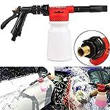 Porcyco Schaumdüse Schaumlanze Auto-Schaumpistole 0,9 L, schaumlanze,2 in 1 hochdruckreiniger schaumpistole,Wird zur Reinigung von Auto- und Motorradgärten verwendet