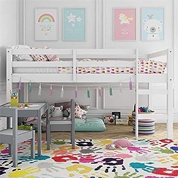 Dorel Living Milton Junior Twin Loft Bed White