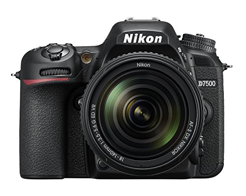 Nikkon D7500 - Cámara réflex Digital de 20.9 MP (Pantalla LCD 3.2, 4K/UHD, SnapBridge, Bluetooth, WiFi) Color Negro - Kit con Objetivo AF-S DX 18-140 mm f/3.5-5.6G ED VR